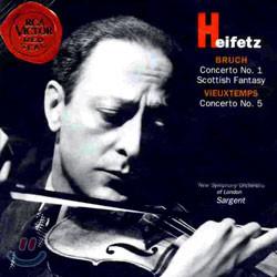 Jascha Heifetz 브루흐 / 비외탕: 바이올린 협주곡 - 야사 하이페츠 (Bruch: Violin Concerto No.1 / Vieuxtemps: Concerto No. 5)