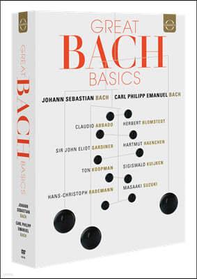 그레이트 바흐 베이직 12DVD 박스 세트 - 바흐와 C.P.E. 바흐의 합창, 피아노곡 (Great Bach Basics - J.S. Bach & C.P.E. Bach)