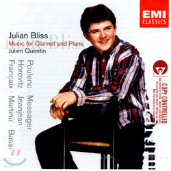 Music For Clarinet And Piano : BlissㆍQuentin