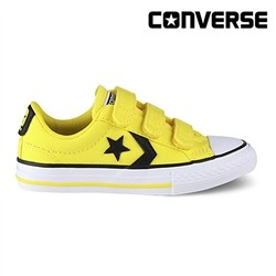 [컨버스키즈] STAR PLAYER 3V OX FRESH YELLOW/BLACK 356423C (키즈)
