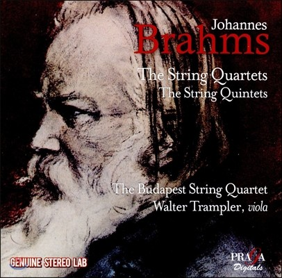 Walter Trampler / Budapest String Quartet 브람스: 현악 사중주, 현악 오중주 (Brahms: String Quartets Nos.1, 2, 3 & String Quintets Nos.1, 2) 발터 트람플러, 부다페스트 스트링 콰르텟