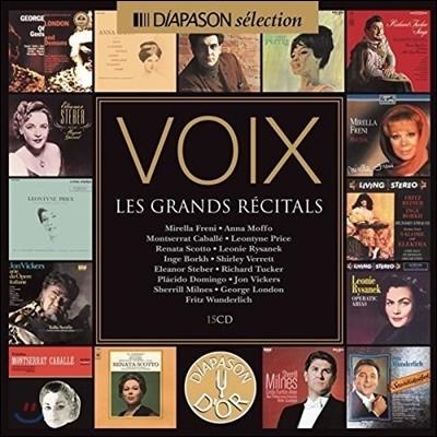 디아파종 셀렉션 - 15명의 위대한 성악가 리사이틀 15CD 박스세트 (Voix - Les Grands Recitals)