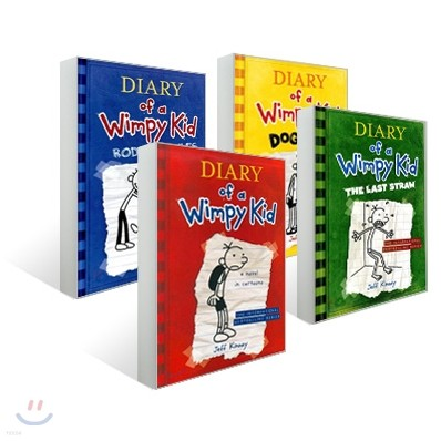 Diary of a Wimpy Kid #1 - #4 세트