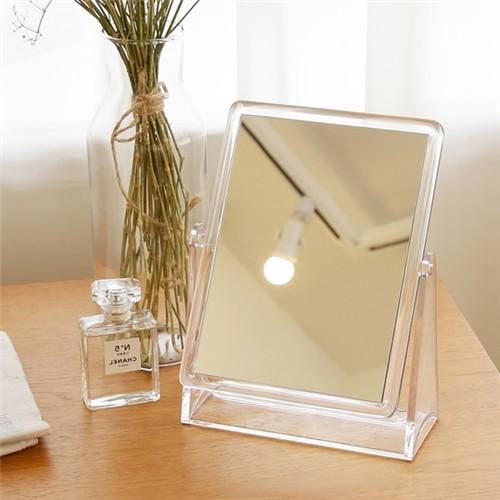 [홈앤하우스] 탁상용 양면 사각거울