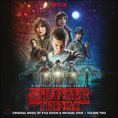 기묘한 이야기 시즌 1 드라마 음악 (Stranger Things Season 1 Vol. 2 OST) [블루 블랙 소용돌이 무늬 컬러 2LP]