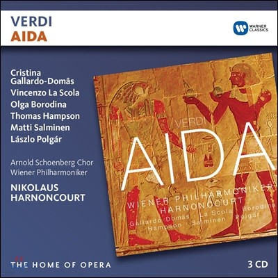 Nikolaus Harnoncourt / Cristina Gallardo-Domas 베르디: 아이다 - 크리스티나 갈라르도-도마스, 빈 필하모닉, 니콜라우스 아르농쿠르 (Verdi: Aida)