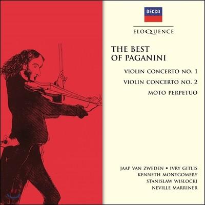 Neville Marriner / Jaap van Zweden 파가니니 : 바이올린 협주곡 1번, 2번, 무궁동 (The Best of Paganini: Violin Concerto Nos. 1, 2 & Moto Perpetuo) 얍 반 츠베덴, 이브리 기틀리스, 네빌 마리너