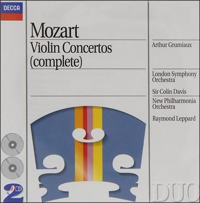 Arthur Grumiaux 모차르트: 바이올린 협주곡 전곡집 (Mozart : Violin Concerto And Sonata) 아르투르 그뤼미오