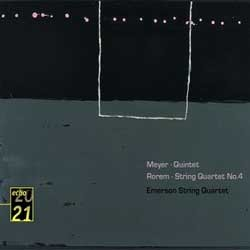 Meyer : Quintet / Rorem : String Quartet No.4 : Emerson String QuartetㆍMeyer