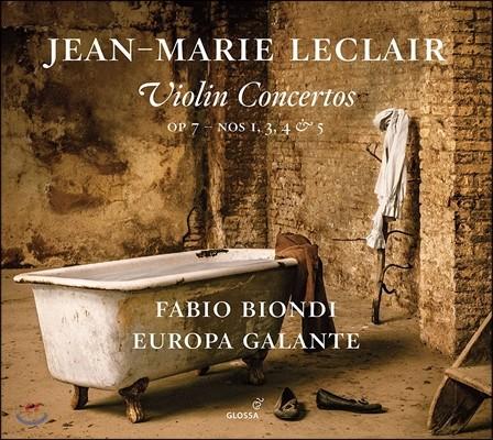 Fabio Biondi / Europa Galante 르클레르: 바이올린 협주곡 Op.7-1, 3, 4 & 5 (Jean-Marie Leclair: Violin Concertos) 파비오 비온디, 에우로파 갈란테
