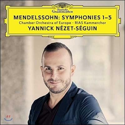 Yannick Nezet-Seguin 멘델스존: 교향곡 1-5번 - 야닉 네제-세갱, 유럽 챔버 오케스트라 (Mendelssohn: Symphonies 1-5)