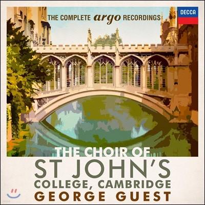 캠브리지 세인트 존스 칼리지 합창단 - 아르고 녹음 전집 (The Choir of St. John's College Cambridge - The Complete Argo Recordings)