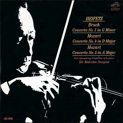 브루흐/모차르트 : 바이올린 협주곡 1번/4 & 5번 - 야샤 하이페츠