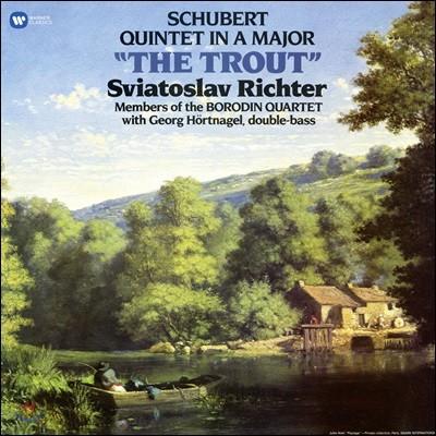 Sviatoslav Richter / Borodin Quartet 슈베르트: 피아노 오중주 `송어` (Schubert: Piano Quintet in A major, D667 'The Trout') 리히테르, 보로딘 사중주단 [LP]