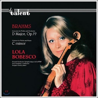 Lola Bobesco 브람스: 바이올린 협주곡과 소나타 - 롤라 보베스코 (Brahms: Violin Concerto Op.77, Scherzo in C Minor) [LP]
