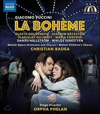 Christian Badea / Olesya Golovneva 푸치니: 라 보엠 - 올레샤 골로프네바, 말뫼 오페라 오케스트라 & 합창단, 크리스티안 바데아 (Puccini: La Boheme) [블루레이]