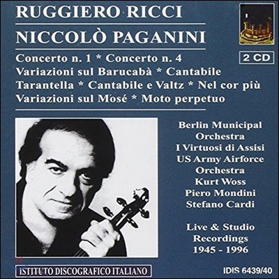 Ruggiero Ricci 루지에로 리치가 연주하는 파가니니: 바이올린 협주곡, 변주곡, 타란텔라, 칸타빌레 외 (Paganini: Violin Concertos, Variations, Cantabile, Tarantella)