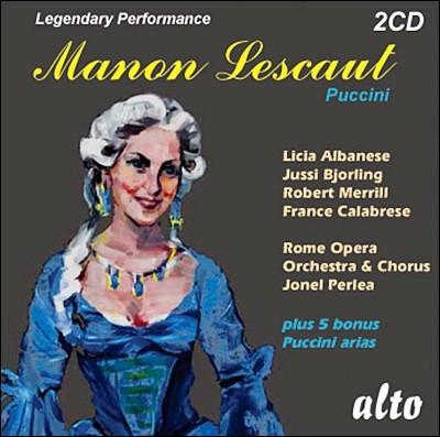 Jussi Bjorling / Jonel Perlea 푸치니: 마농 레스코 - 유시 비욜링, 요넬 페를레아 (Puccini: Manon Lescaut)