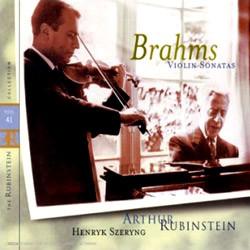Brahms : Violin Sonata No.1, 2 & 3 : RubinsteinㆍSzeryng