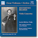 Jascha Heifetz 베토벤 / 브람스 : 바이올린 협주곡 - 야사 하이페츠 (Beethoven / Brahms: Violin Concertos)