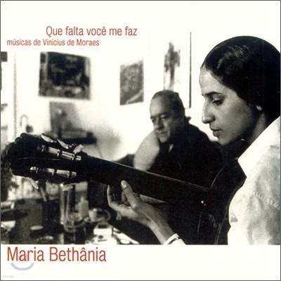 Maria Bethania - Que Falta Voce Me Faz: Musicas De Vinicius De Moraes