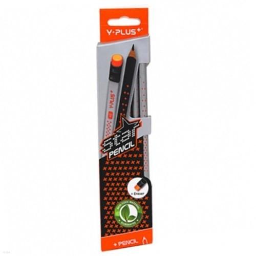 [와이플러스] 스타 지우개 연필 PX1313HB 144묶음