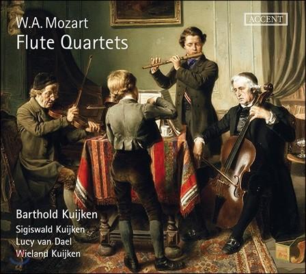 Barthold Kuijken 모차르트: 플루트 4중주 전곡집 - 바르톨트, 지히스발트, 빌란트 카위컨 (Mozart: Flute Quartets KV285, 285a, 285b & 298)