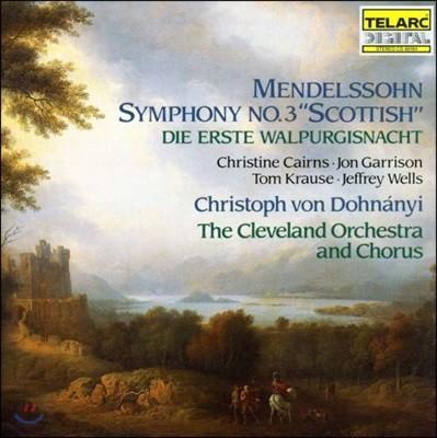 Christoph von Dohnanyi 멘델스존: 교향곡 3번 '스코틀랜드' - 클리블랜드 교향악단, 크리스토프 폰 도흐나니 (Mendelssohn: Scottish Symphony, Die Erste Walpurgisnacht)