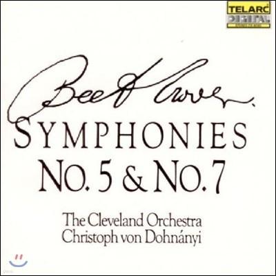 Christoph von Dohnanyi 베토벤: 교향곡 5번, 7번 - 클리블랜드 오케스트라, 크리스토프 폰 도흐나니 (Beethoven: Symphony Op.67 & Op.92)