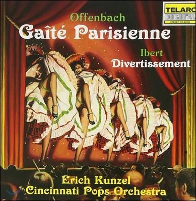 Erich Kunzel 오펜바흐: 유쾌한 파리인 / 이베르: 디베르티스망 - 에리히 쿤젤, 신시내티 팝스 오케스트라 (Offenbach: Gaite Parisienne / Ibert: Divertissement)