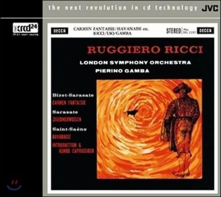 Ruggiero Ricci 사라사테: 카르멘 환상곡, 치고이네르바이젠 / 생상스: 하바네즈 외 - 루지에로 리치, 런던 심포니 (Sarasate: Carmen Fantaisie, Zigeunerweisen / Saint-Saens: Havanaise) [XRCD]