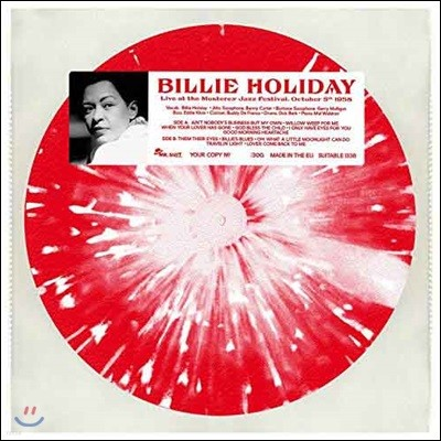 Billie Holiday (빌리 홀리데이) - Live At The Monterey Jazz Festival October 5th 1958 [레드 마블 컬러 LP]