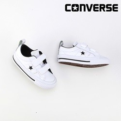 [컨버스키즈] ONE STAR 2V OX WHITE/BLACK/WHITE 758496C (베이비)