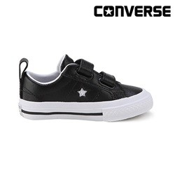 [컨버스키즈] ONE STAR 2V OX BLACK/WHITE/BLACK 758495C (베이비)