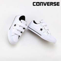 [컨버스키즈] ONE STAR 3V OX WHITE/BLACK/WHITE 658496C (키즈)