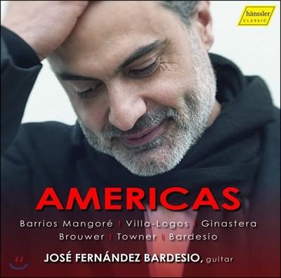 Jose Fernandez Bardesio 호세 페르난데즈 바르데시오 기타 연주집 - 빌라-로보스, 브루어, 망고레, 히나스테라 (Americas)