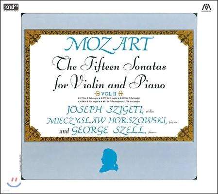 Joseph Szigeti 모차르트: 바이올린 소나타 2집 - 요제프 시게티, 미예치슬라프 호르조프스키, 조지 쉘 (Mozart: The Fifteen Sonatas for Violin and Piano Vol.II)