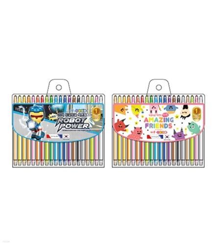 [모닝글로리] 7000 빙글빙글 색연필 20색 72개묶음 주