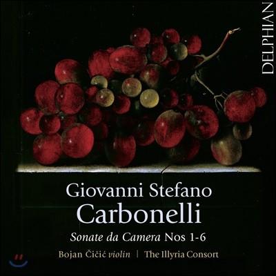 Bojan Cicic 지오반니 스테파노 카르보넬리: 실내 소나타 1-6번 - 일리리아 콘소트, 보얀 치치치 (Giovanni Stefano Carbonelli: Sonate Da Camera Nos. 1-6)