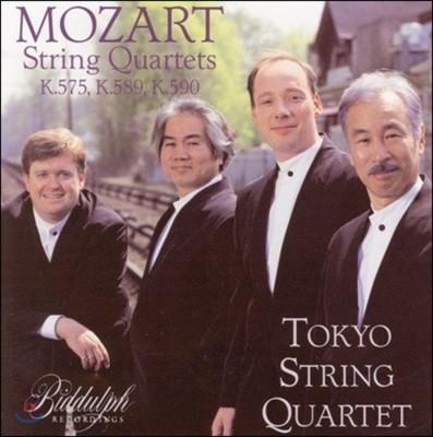 Tokyo String Quartet 도쿄 현악 사중주단이 연주하는 모차르트: 현악 사중주 21-23번 (Mozart: String Quartets K.575, K.589 & K.590)