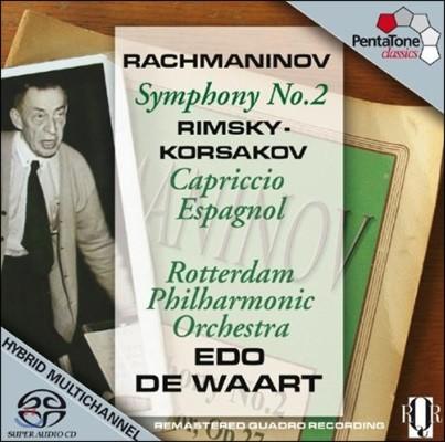 Edo De Waart 라흐마니노프: 교향곡 2번 / 림스키-코르사코프: 스페인 기상곡 - 로테르담 필하모닉, 에도 데 바르트 (Rachmaninov: Symphony Op.27 / Rimsky-Korsakov: Capriccio Espagnol Op.34)