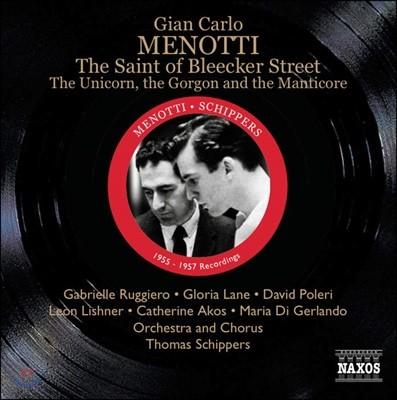 Thomas Schippers 메노티: 블리크 거리의 성자들 (Menotti: The Saint of Bleecker Street)