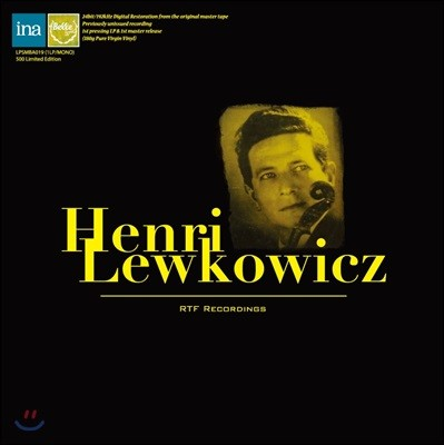 Henri Lewkowicz 앙리 레브코비츠 프랑스 국립 방송국  레코딩 (RTF Recording) [LP]