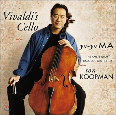 Yo-Yo Ma 비발디: 첼로 협주곡 - 요요 마, 암스테르담 바로크 오케스트라, 톤 쿠프만 (Vivaldi's Cello: Concertos) [2 LP]