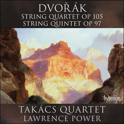 Takacs Quartet 드보르작: 현악 사중주 Op.105, 현악 오중주 Op.97 - 타카치 콰르텟, 로렌스 파워 (Dvorak: String Quartet & Quintet)