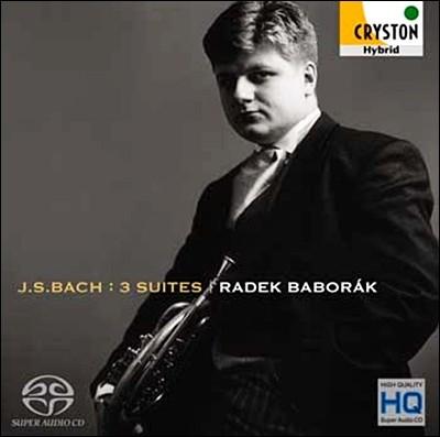 Radek Baborak 바흐: 무반주 첼로 모음곡 1-3번 [호른 편곡판] (Bach: Suites No.1-No.3) 라덱 바보락