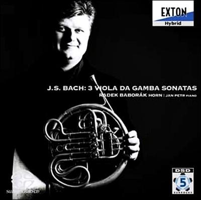 Radek Baborak 바흐: 세 개의 비올라 다 감바 소나타 [호른 편곡판] (Bach : 3 Viola da Gamba Sonatas)