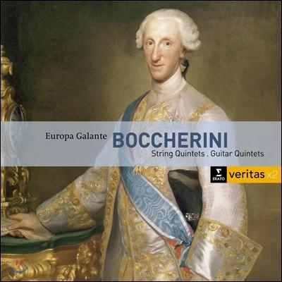 Europa Galante 보케리니: 현악 오중주, 기타 오중주 (Boccherini: String Quintets, Guitar Quintets) 유로파 갈란테, 파비오 비온디