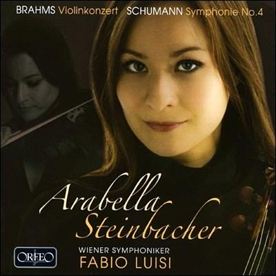 브람스 : 바이올린 협주곡 OP.77 / 슈만 : 교향곡 4번 - 슈타인바허, 루이지