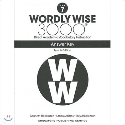 Wordly Wise 3000 Answer Key Grade 7, 4/E